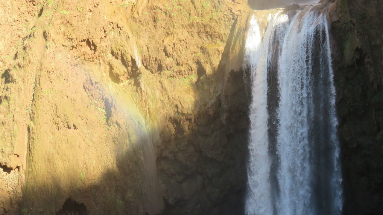 ouzoud waterfalls in morocco Beauty In Nature Day Nature No People Outdoors Ouzoud Falls Rainbow Sand Scenics Sunlight Tranquility Tree Water Waterfalls