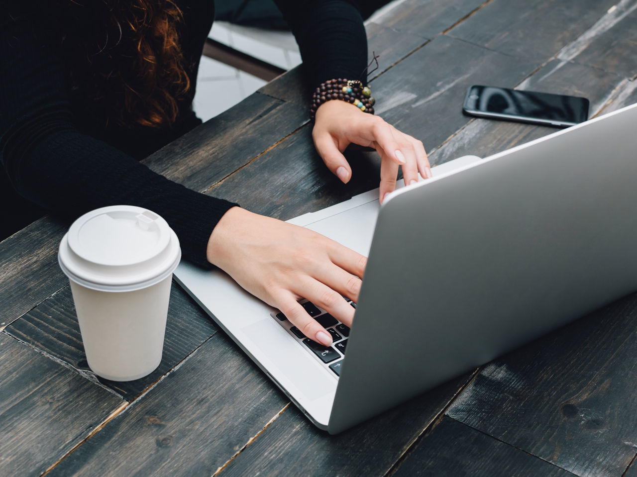 Beautiful stock photos of computers, Businesswoman, Coffee - Drink, Communication, Connection