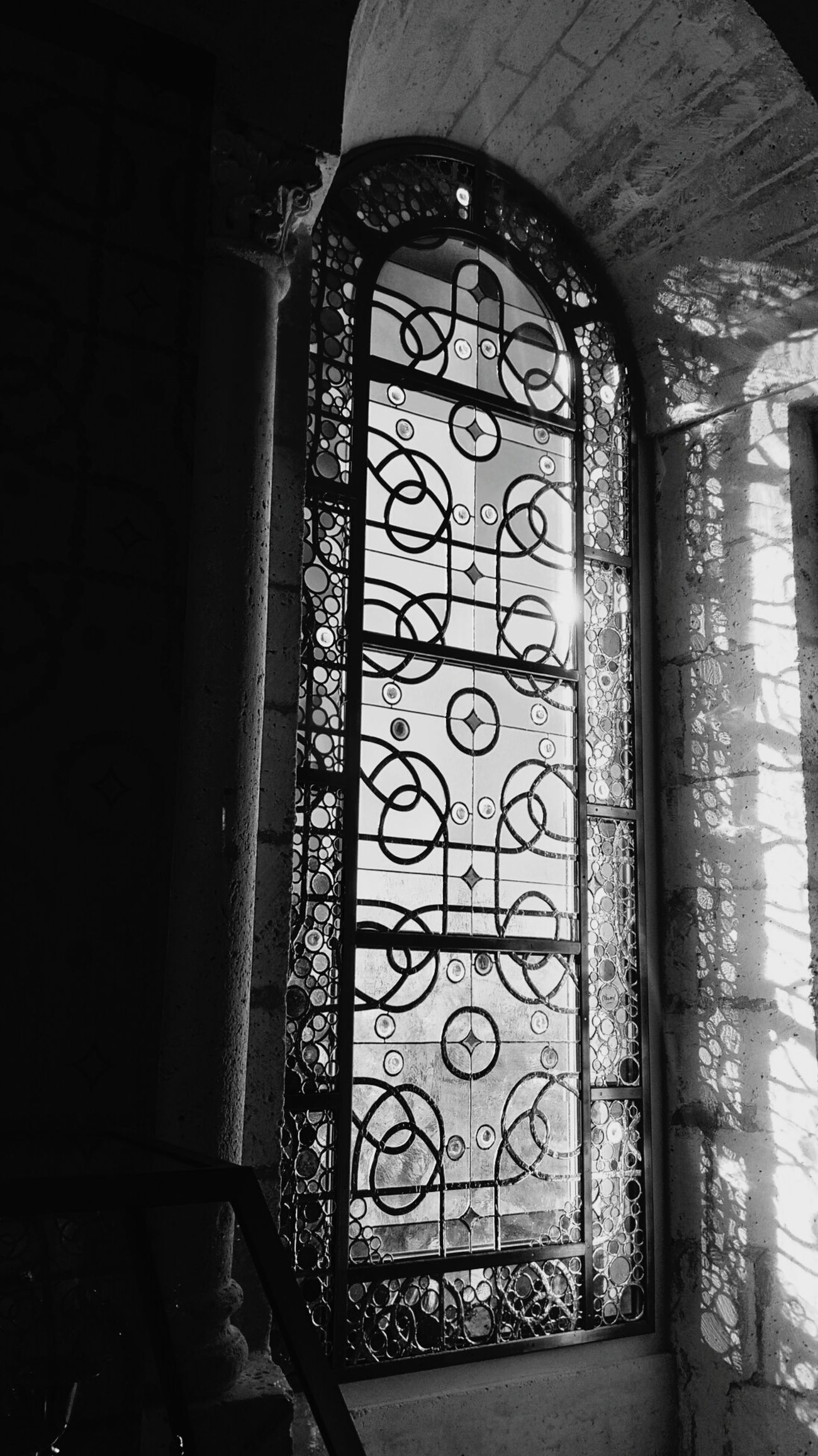 Stained Glass Window Stainedglass Lights And Shadows Lights B&w