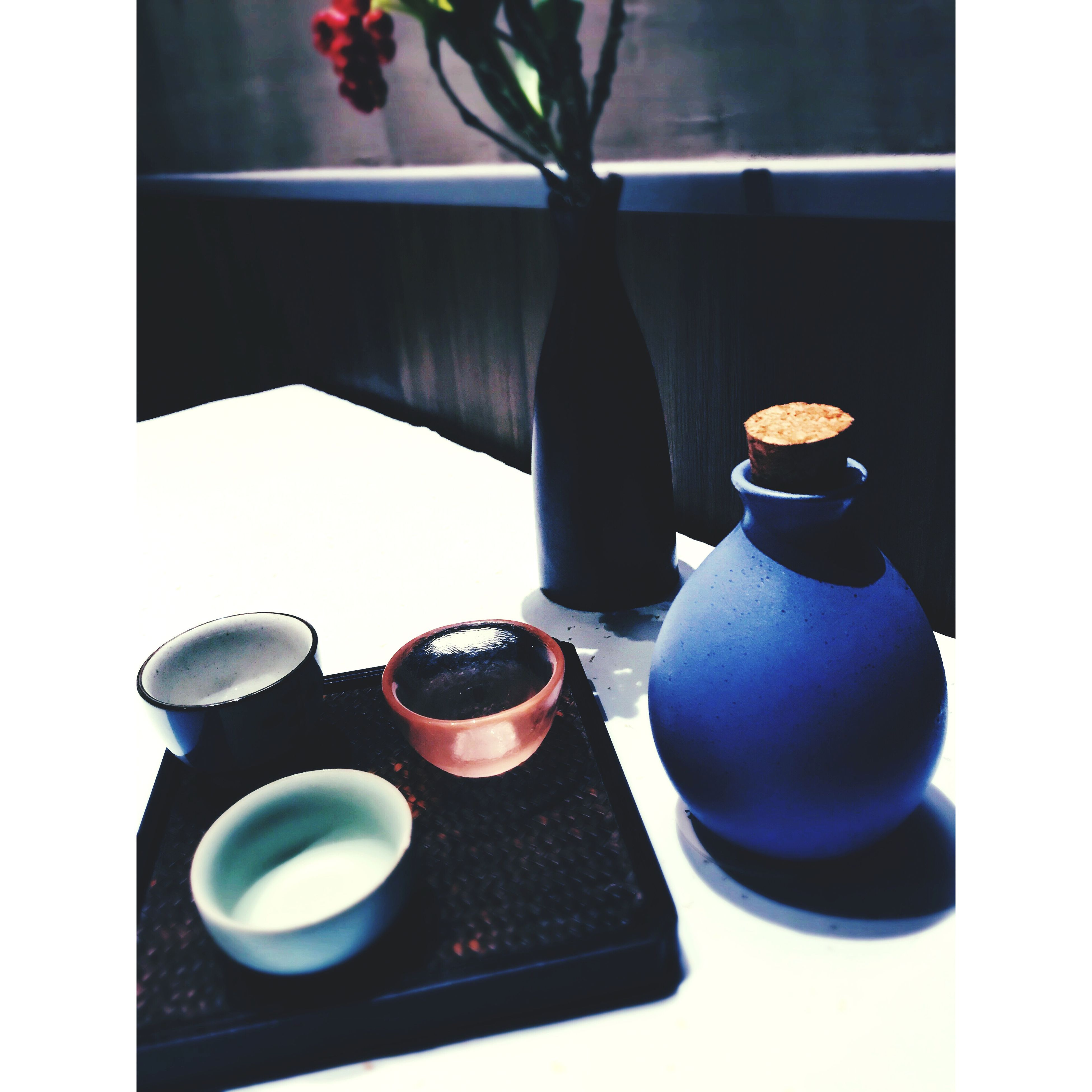 still life, table, indoors, black color, no people, close-up, day