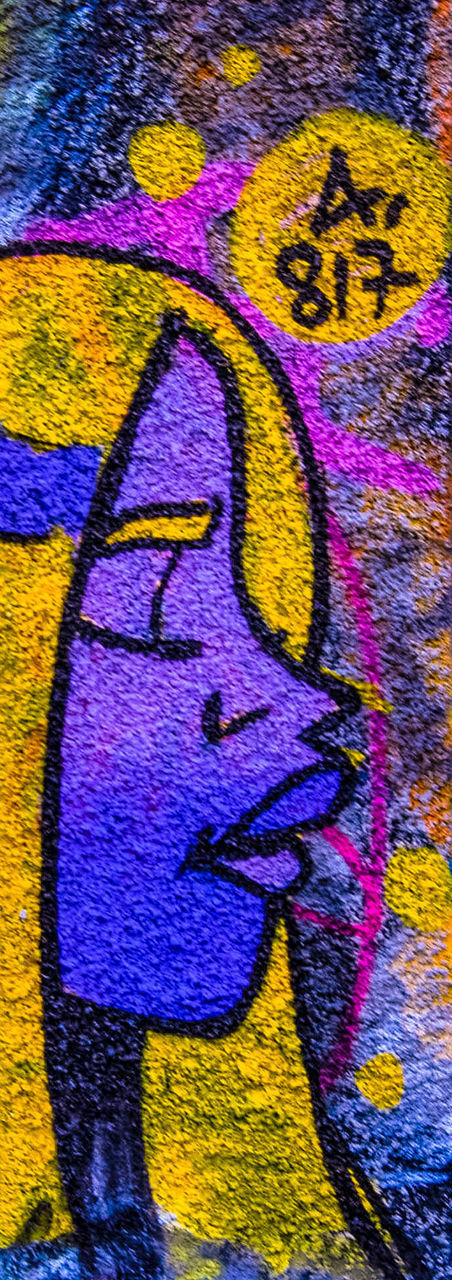 art and craft, multi colored, graffiti, textured, yellow, no people, close-up, full frame, backgrounds, textile, blue, embroidery, day, outdoors