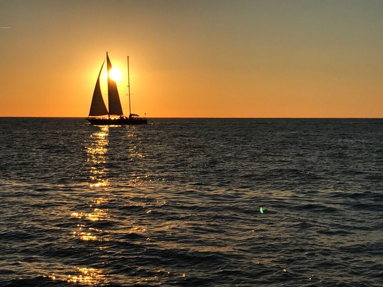 Sunset 1 Sunset Sea Nautical Vessel Water Transportation Horizon Over Water Sailing Sailboat Nature Sun Outdoors No People Sky Yacht Regatta Day