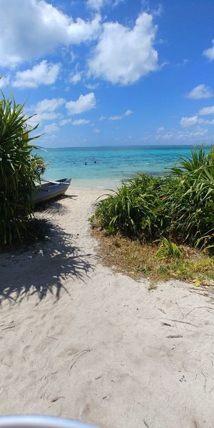 Sea Cloud - Sky Beach Sky Horizon Over Water Sand Water Tree Tropical Climate Vacations Travel Destinations Day Nature Summer Outdoors Blue Tranquility Beauty In Nature Landscape No People