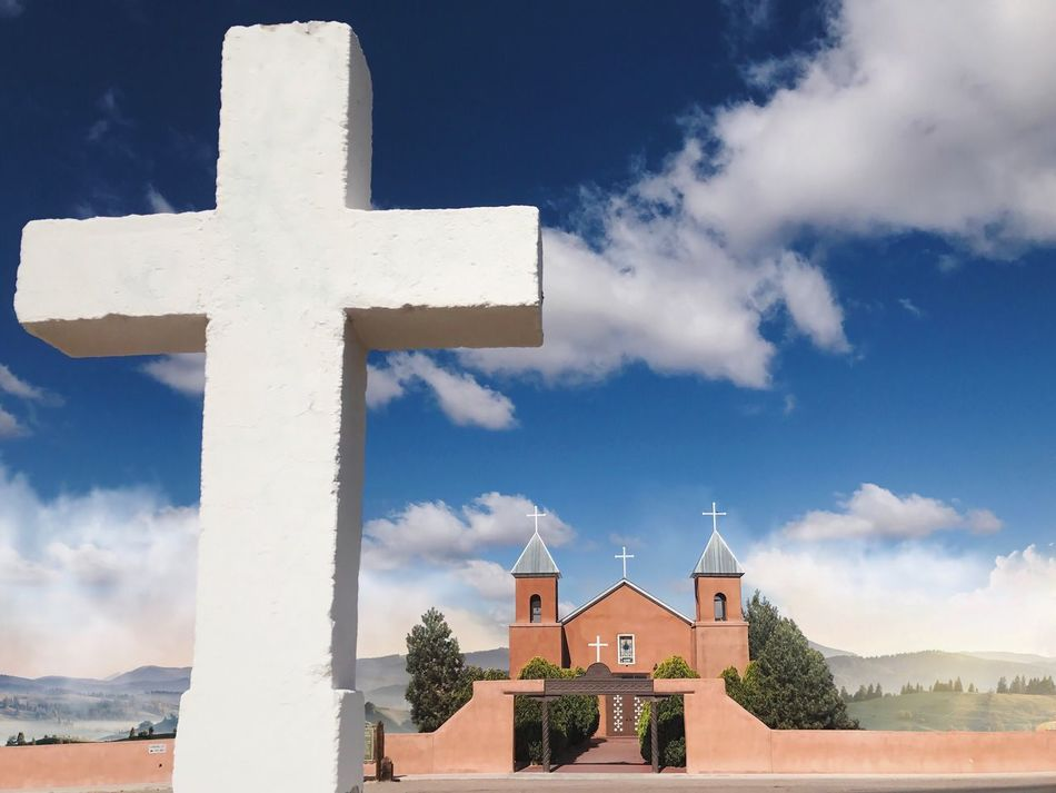 Church Cross Sky Religion Cloud - Sky Architecture No People Day Built Structure Spirituality Outdoors Building Exterior Clouds