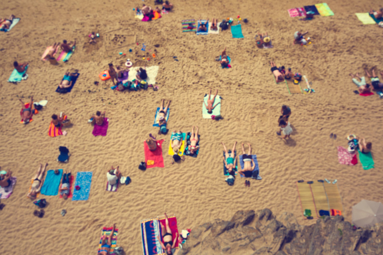 Beach Beach Holiday Beach Photography Blurred Chilling Crowd Day High Angle View Holiday Holidays Large Group Of People Laying Down Leisure Activity Multi Colored Nature Outdoors People Real People Sand Summer Sunbathing Vacations