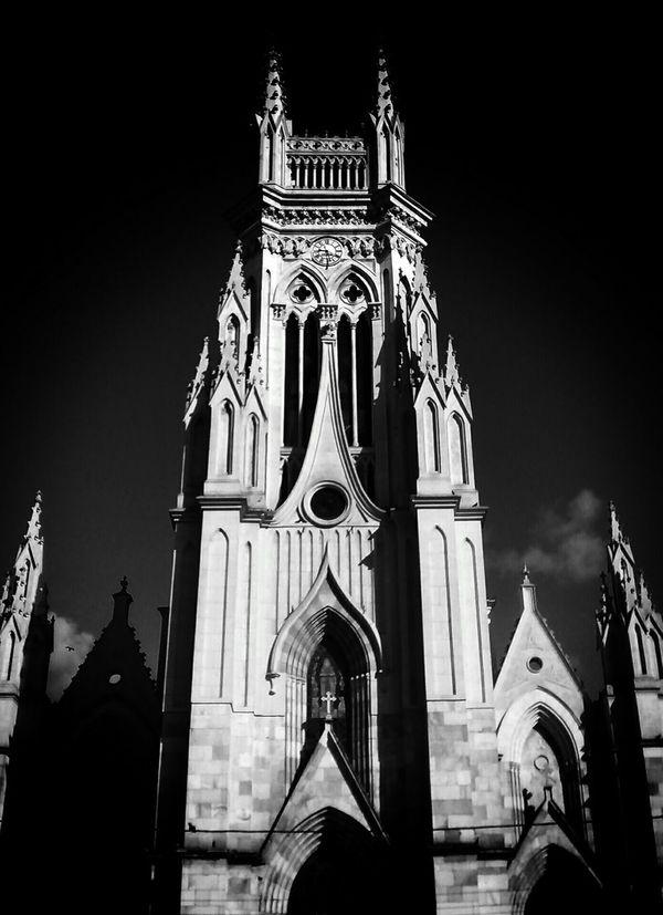 Bogotá Blackandwhite Streetphoto_bw Monochrome Churches