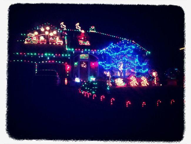 Hot cocoa, my car, pretty lights