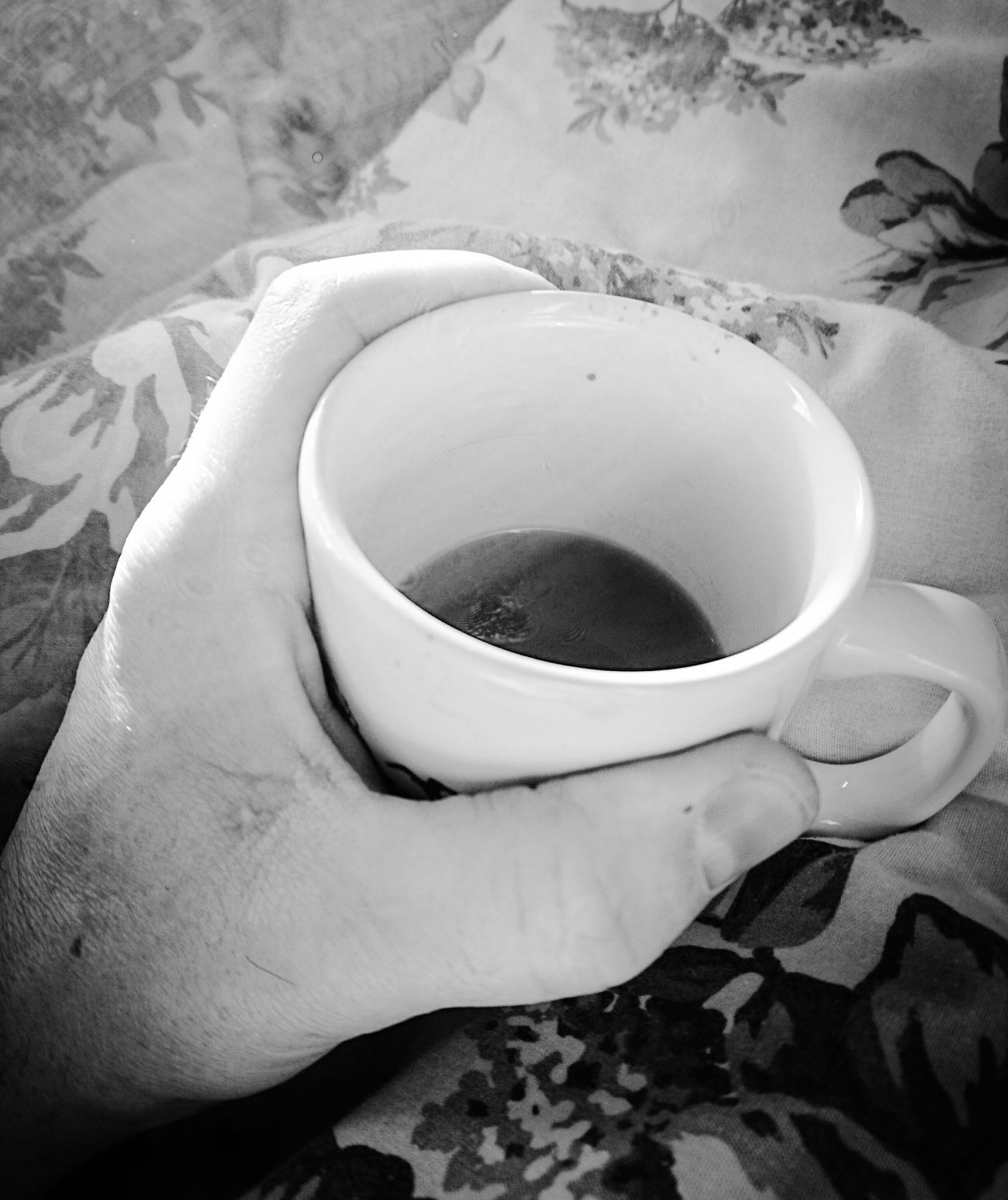 Good Morning Hello World Ejoying A Warm Cup Of Tea