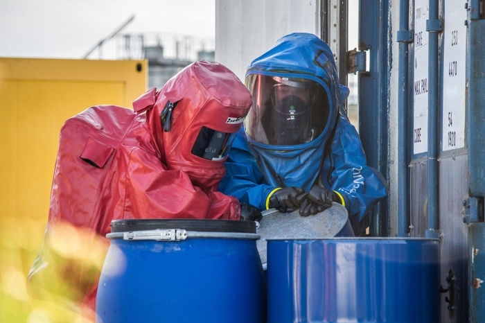 Feuerwehr Feuer Und Flamme Csa Schutzanzug Bio Chemie Atomic ABC Gift Toxic Chemistry Save