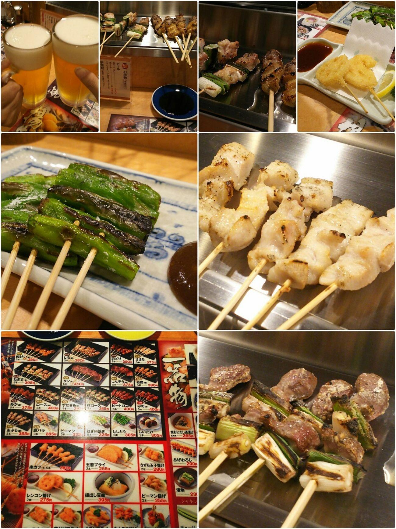 Tokyo Ikebukuro Ikebukuro Foodporn In My Mouf Food Photography Enjoy A Meal Food Porn Enjoying A Meal やきとり お酒 秋吉(ºωº)小ぶりですが5本セット!お手軽に飲み食べ出来ます!