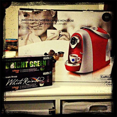 Fick en kaffemaskin av elbolaget jag täcknade hos! Man tackar ?
