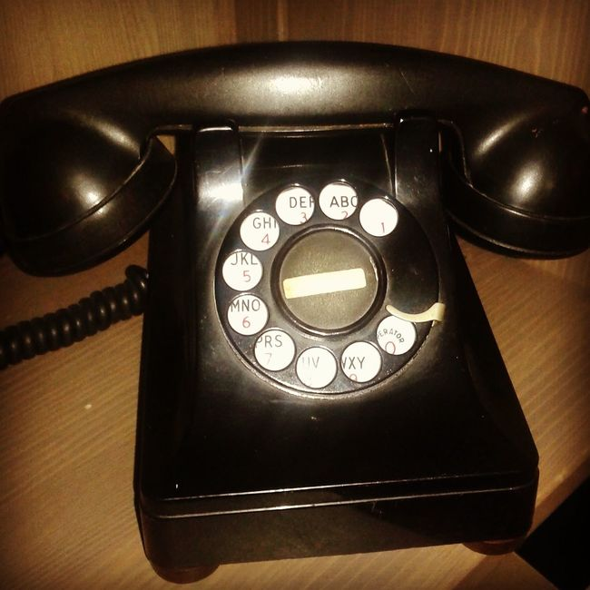 Oldcommunication PhonePhotography Phone Black Color Old-fashioned Antique Retro Styled Technology Telephone 40's  Old