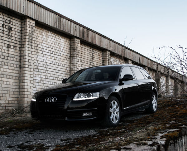 Audi Audi A6 Avant Black Car Day Front View No People Outdoors Side View Transportation Vehicle
