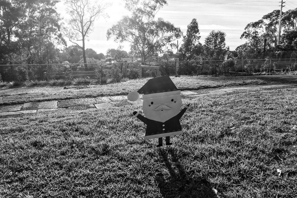 Outdoors Grass Monochrome Shadows & Lights santa on the grass Field Day
