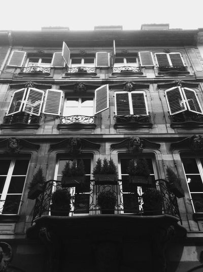 Everyday Lives Building Exterior Window Architecture Built Structure Outdoors Low Angle View No People Balcony Architectural Style Day Urban Scenery France