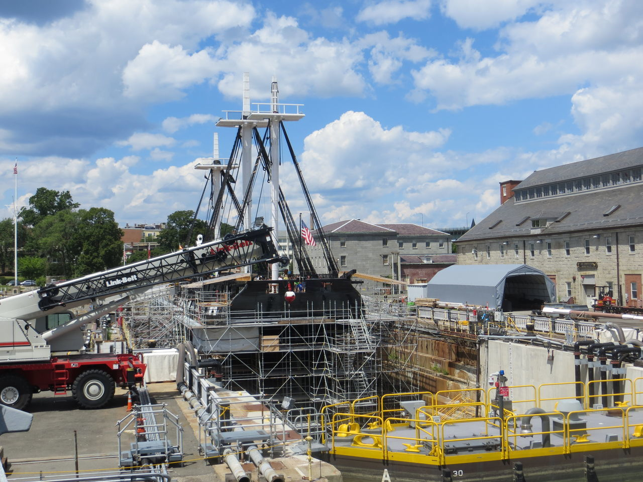 Boston Charles Town Navy Yard Old Ironsides Tall Ship Repair USS Constitution