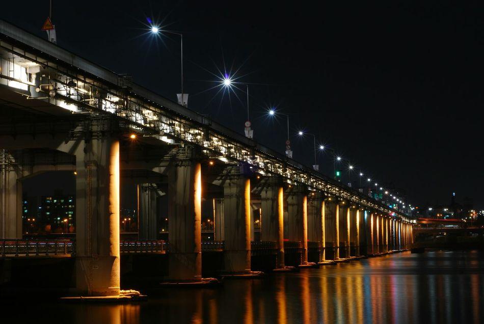 South Korea Hangang Bridge Night