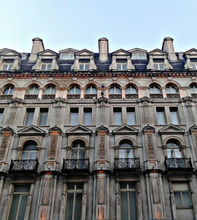 Architecture Façade Building Exterior City Sky Balcony Window Outdoors Summer Sunny Day United Kingdom Uk Europe London Piccadillycircus Photography Architecture Urban Context Taking Photos Effect Details