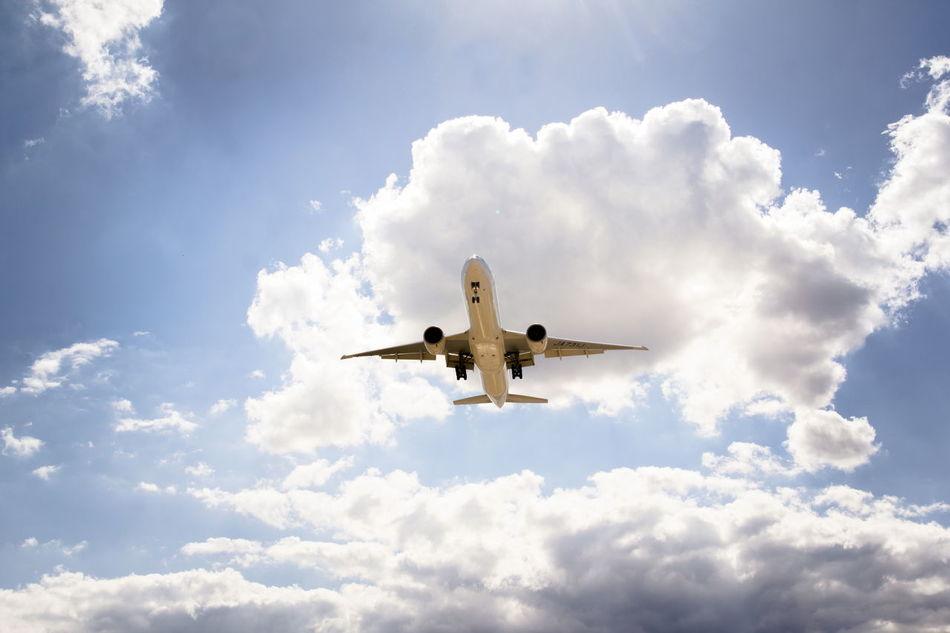 Beautiful stock photos of frankfurt, Air Vehicle, Airplane, Cloud - Sky, Cloudy