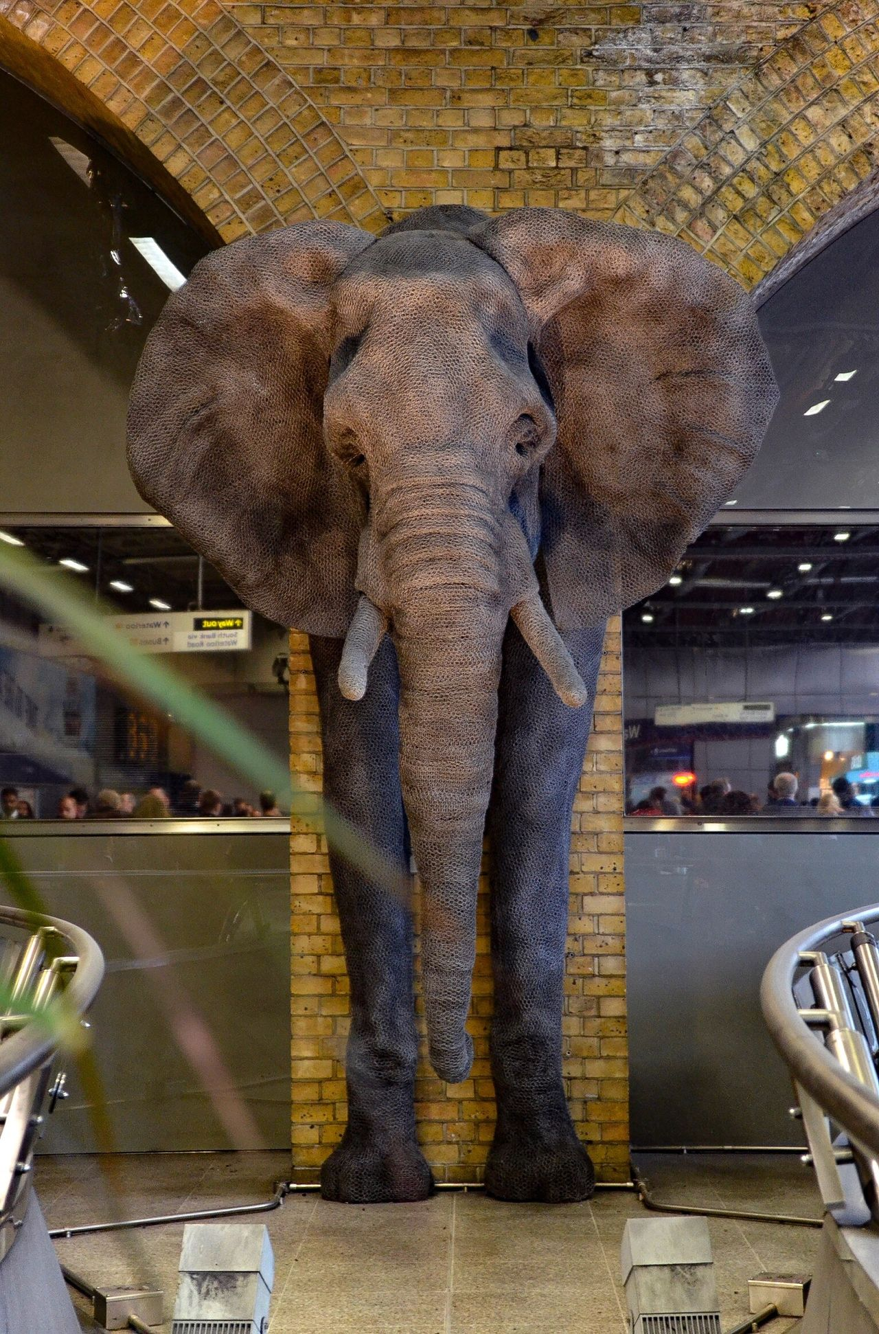 Charge ⁞ Elephant Front View Standing Animal Themes One Animal African Elephant Art Is Everywhere Taking Photos The Purist (no Edit, No Filter) Hanging Out EyeEm Gallery EyeEm_crew Urbanphotography EyeEmBestPics Art Installation London Eyeem Collection Waterloo Sculpture AMPt_community From My Point Of View Eye4photography  EyeEm Best Shots Indoors