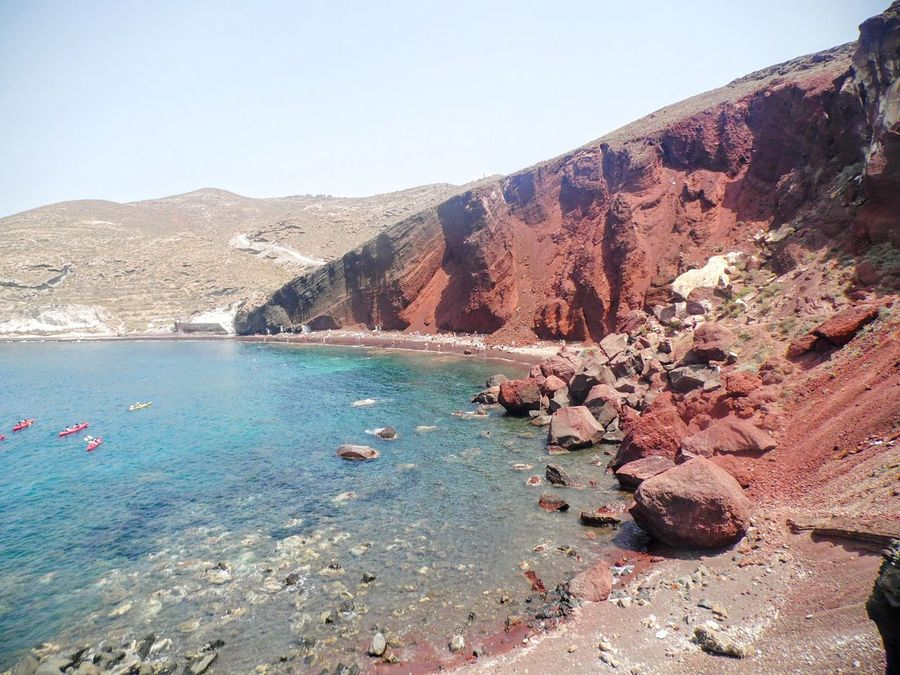 Scenics Nature Outdoors Day Water Beauty In Nature Travel Destinations Sky Landscape Beach Vacations Sand No People Greece Santorini Redbeachsantorini Live For The Story