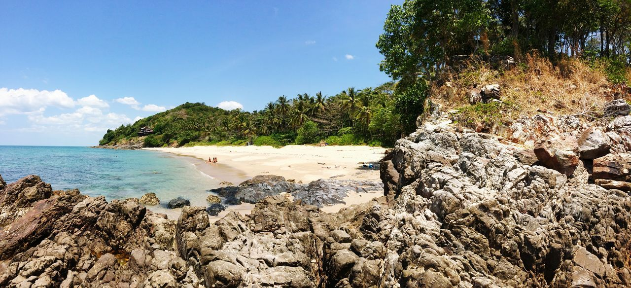 Panoramic View Of Beach And Sea Against Sky