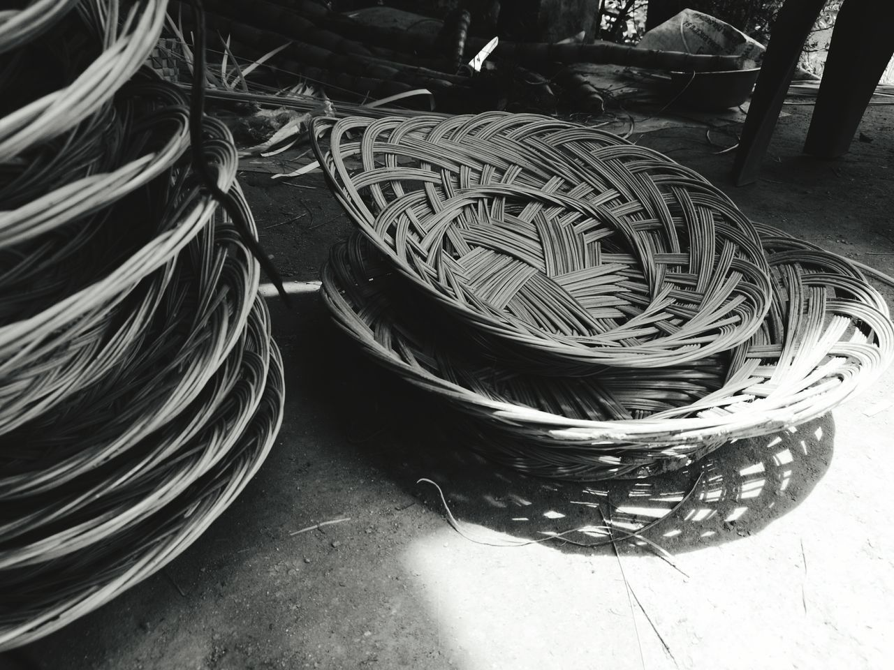 """ Crafts vernacular of the south basket for fruit"" 4/10/2016 Crafts No People Weave Weaves Handicrafts Handicraft Vernacular Vernacular Photography Flock Thailand Thai Thai Product"