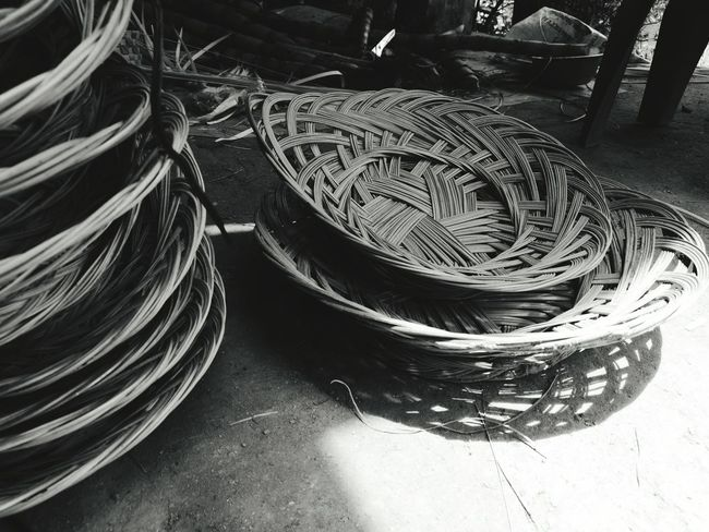 """"""" Crafts vernacular of the south basket for fruit"""" 4/10/2016 Crafts No People Weave Weaves Handicrafts Handicraft Vernacular Vernacular Photography Flock Thailand Thai Thai Product"""