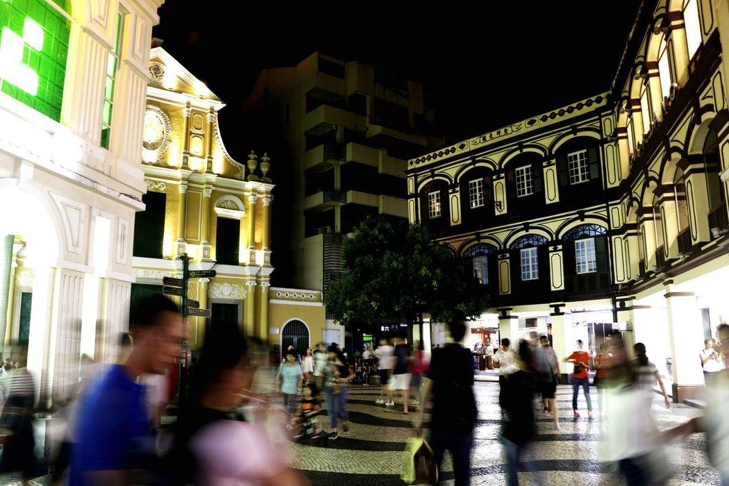 Macau Macau, China Night Outdoors City Populated Travel Travel Photography Nighttime Tourism Blurred Motion Blur Motion
