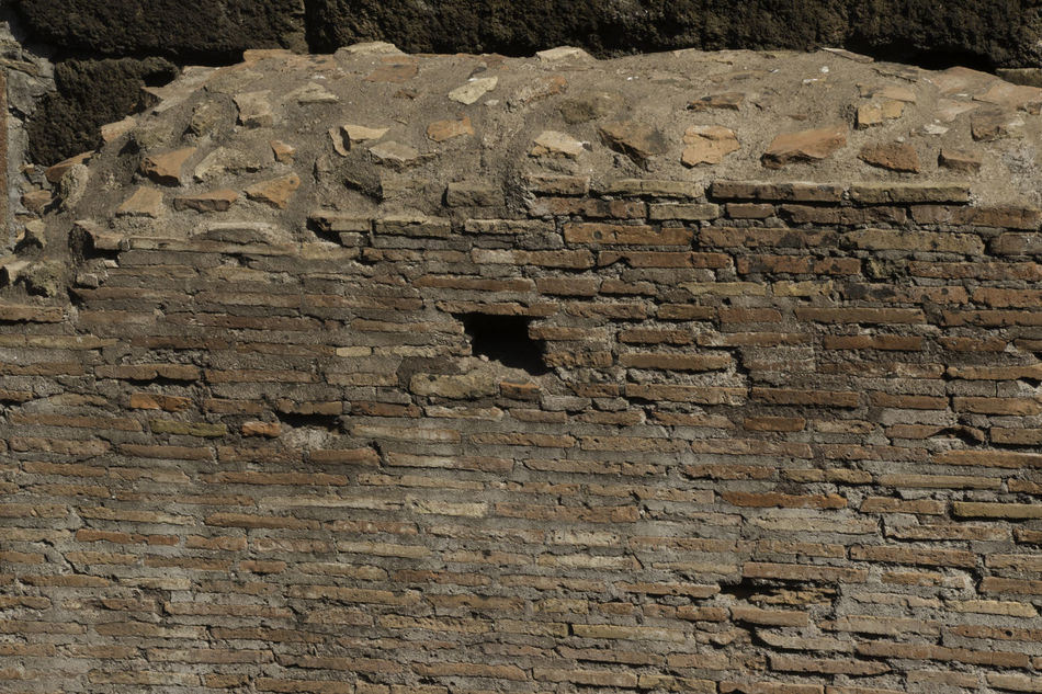 Roman wall Ancient Civilization Architecture Background Built Structure History Old Ruin Rome Textured  Textures And Surfaces Water