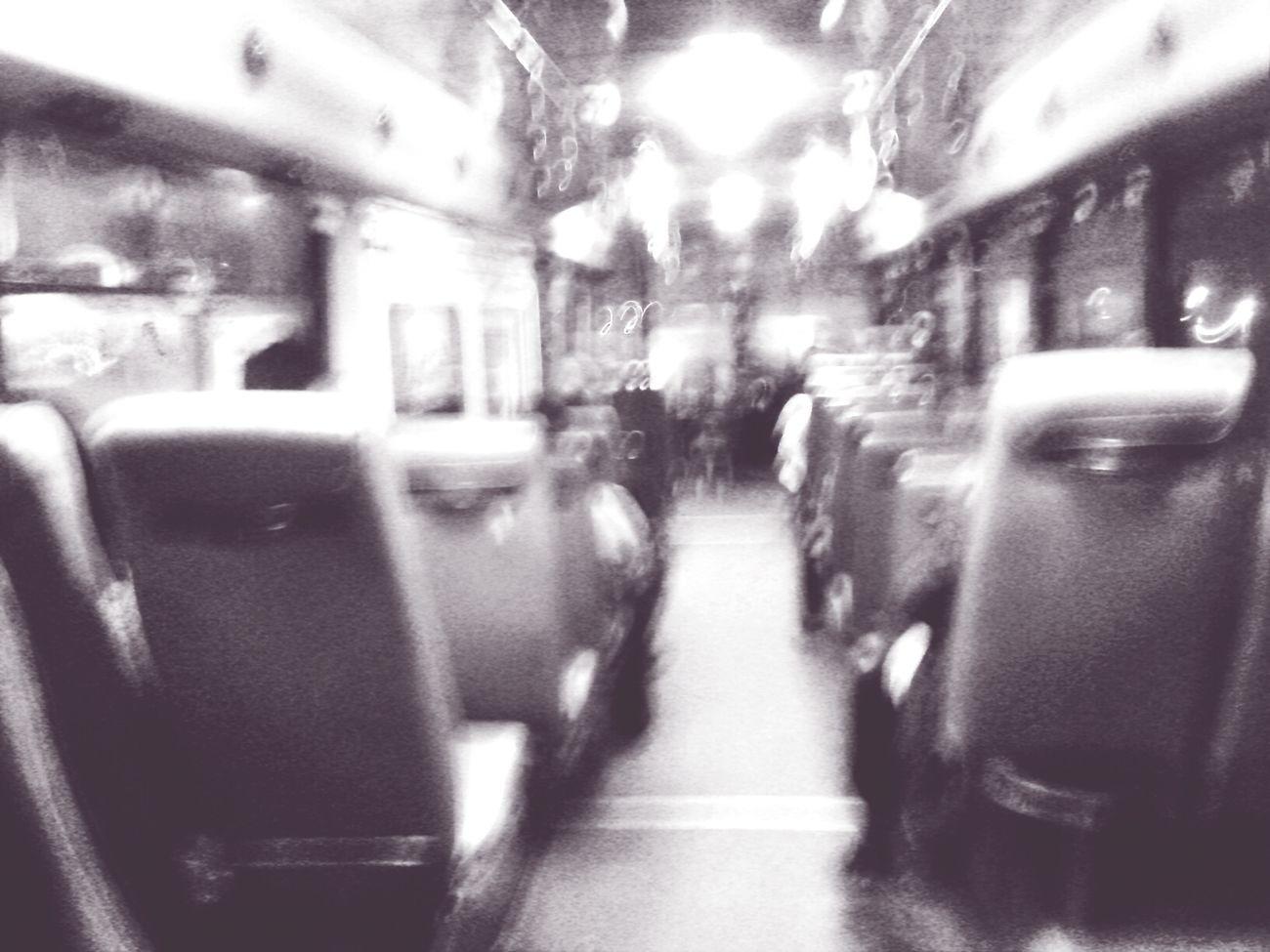 Late Night Busporn Motion Blur Lone Walker