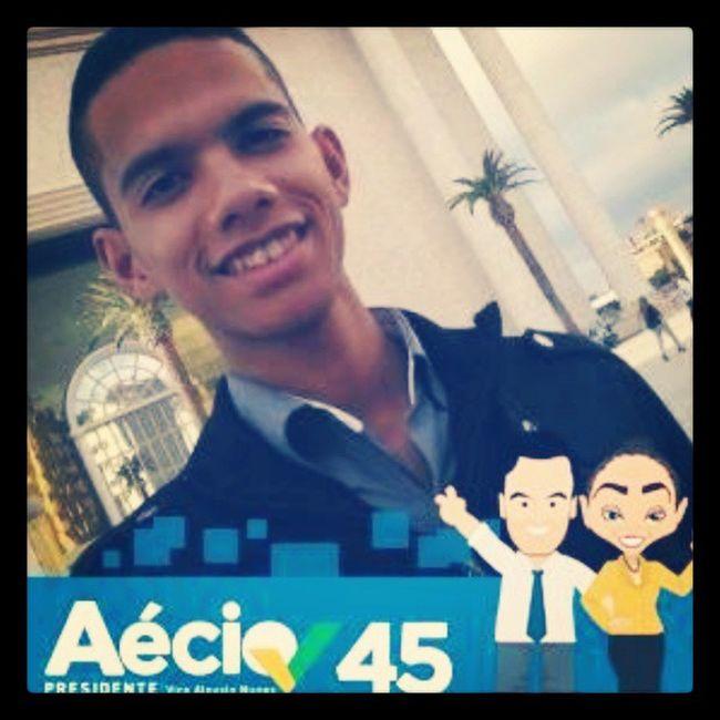 Estou com aécio porque está na hora de mudanças no Brasil EstouComAécio Mudabrasil Aécio45 SãoPauloComAécio45