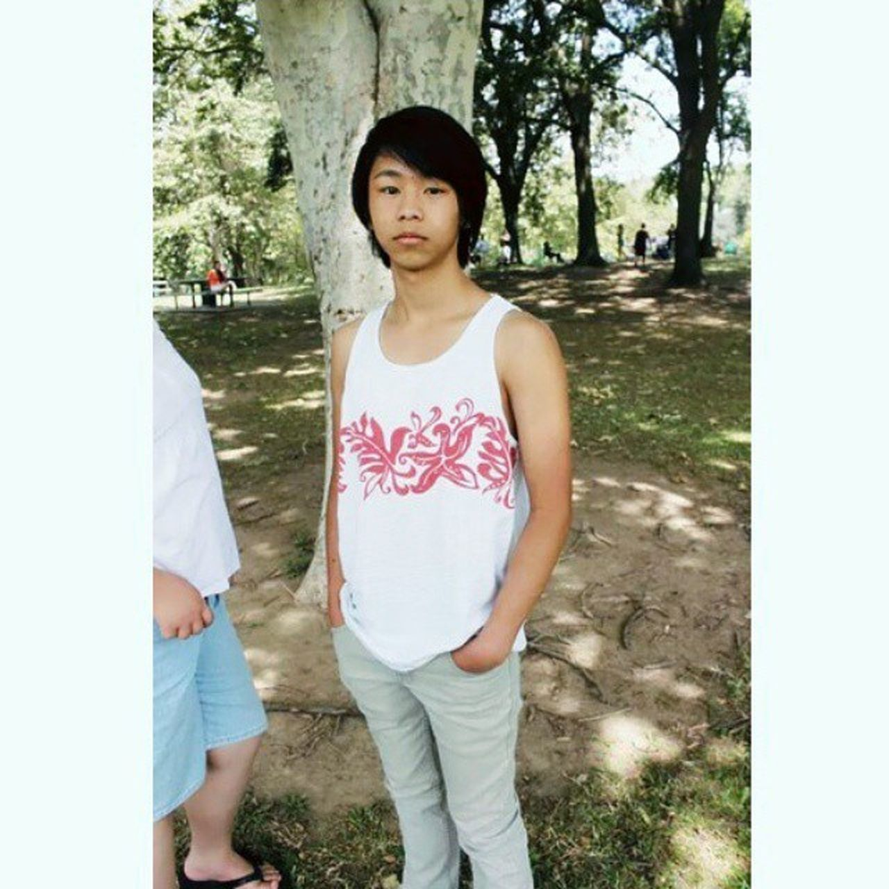 This picture was taken in the summer ^^; I was caught off guard u.u Turtle_troy Asian  Hmong Hmoob KAWAII Blah