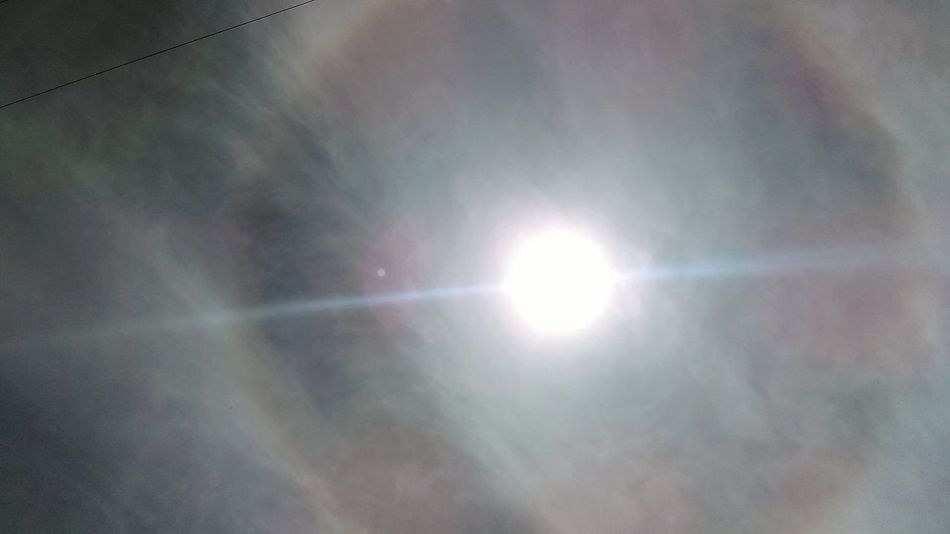 Halo around homestar Sol! Sun Sky Halo Ring Sol Solar Halo Sunlight Star Space Astronomy Sunlight Nature