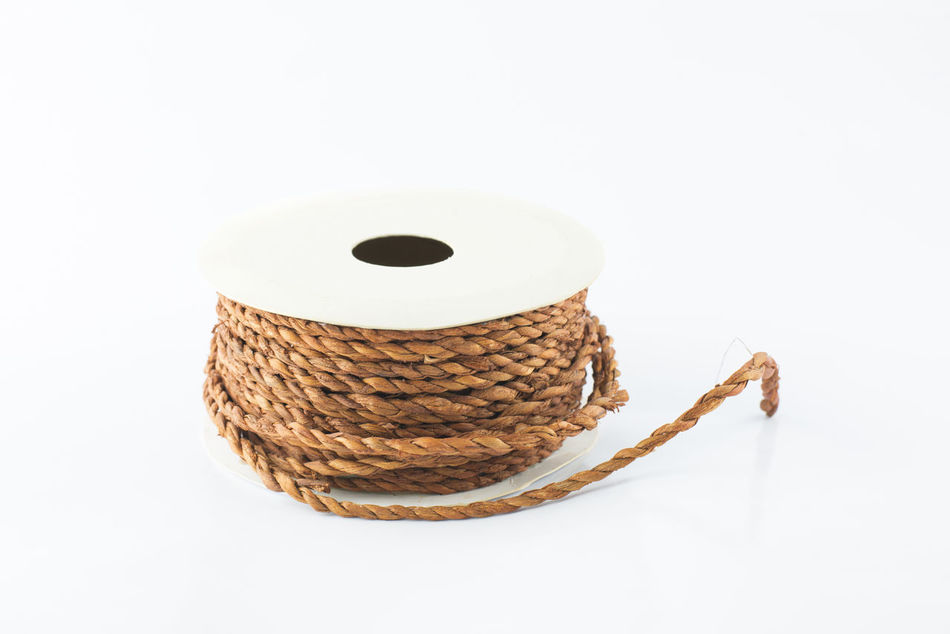 roll rope for parcel Curl Isolated Roll Rope Rough Studio Thread White