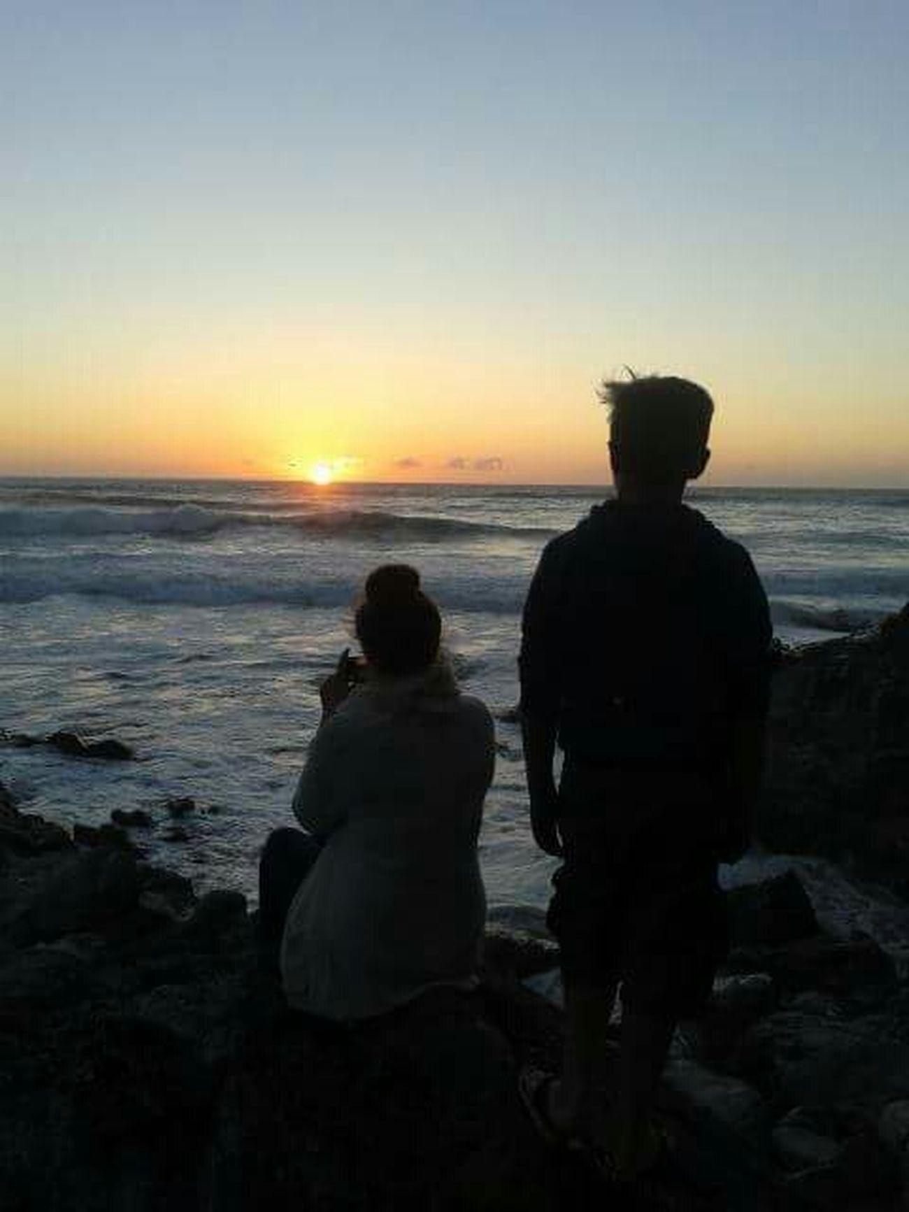 Silhouette Beach Sunset St Agnes Potrait Childhood