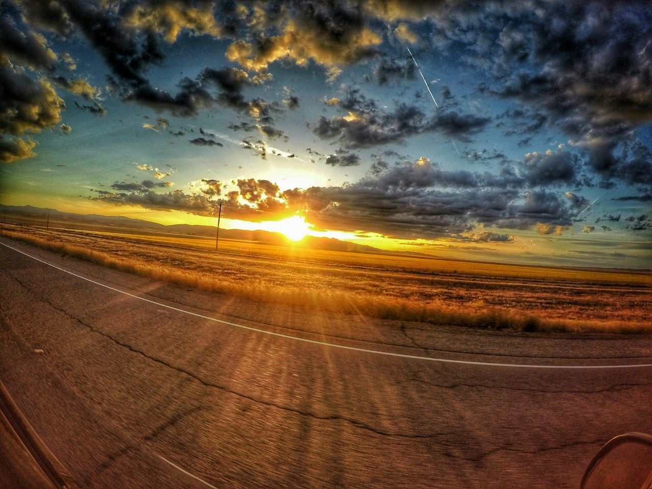 \\On the road again// Ontheroadagain Sunset Road Traveling Peace Inspire Nature Photography Gopro HDR