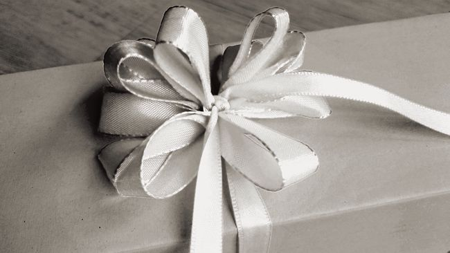 Christmas is coming - remember to buy presents in time 😉 Birthday Present Christmas Preparations Christmas Present Close-up Detail Elégance Fragility Freshness Gift Gift Wrap Gift Wrapping High Angle View Holiday Spirit Indoors  Present Ribbon Simplicity Single Object Table Wrapping Presents Black And White
