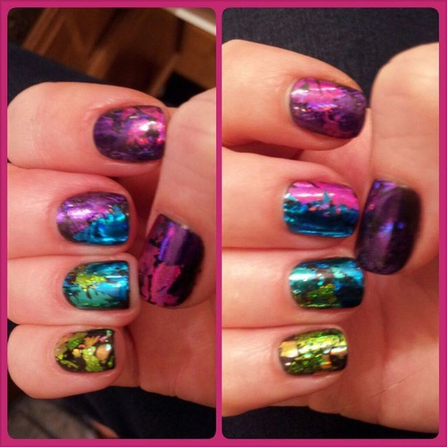 Everything else is so boring now. Foilnails Bestfingnailsever Thenailroom Cndshellac