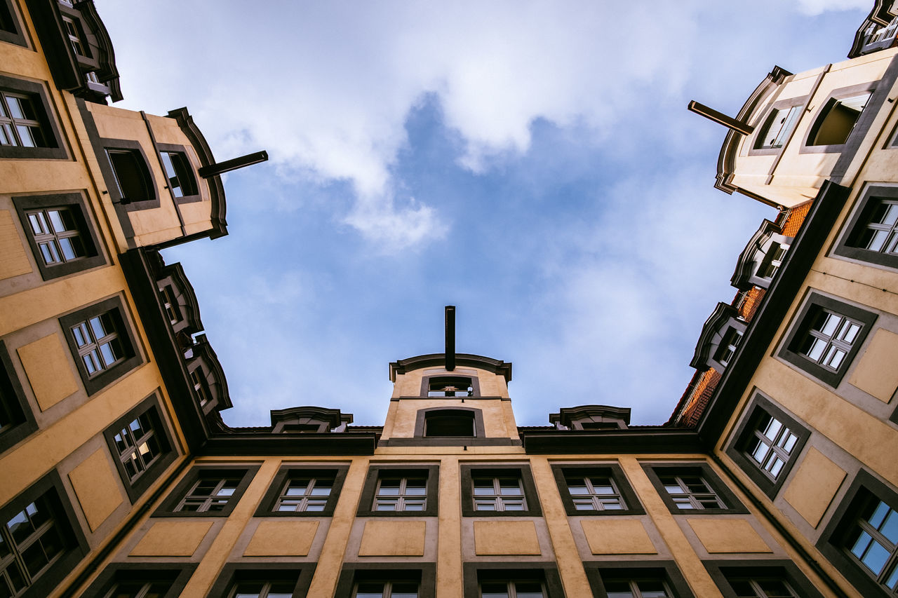 Leipzig City Architecture Building Exterior Built Structure City Cloud - Sky Day Leipzig Low Angle View No People Outdoors Sky