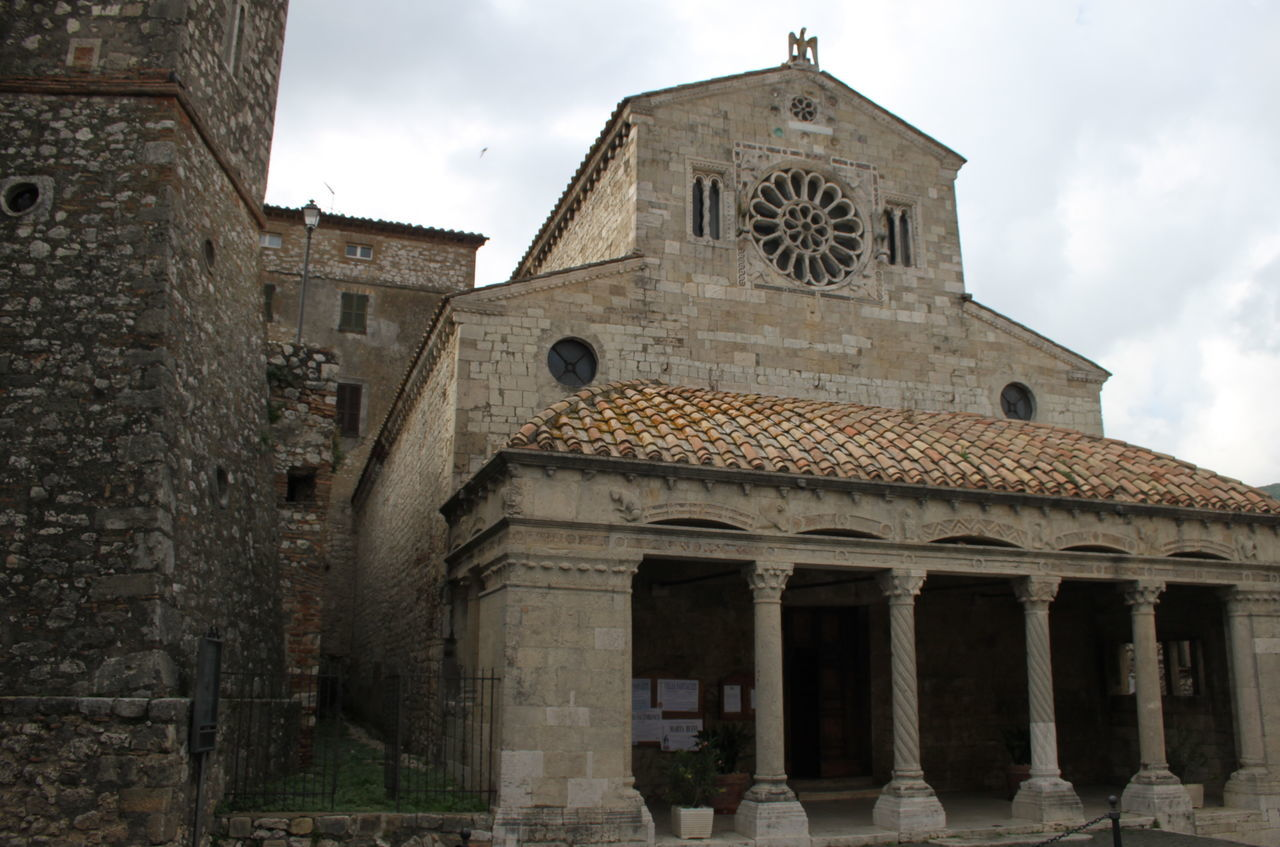 Architecture Building Exterior Church Cloudy Day Exterior Façade History Italy Low Angle View Lugnano In Teverina Old Outdoors Religion Romanic Architecture Spirituality Umbria