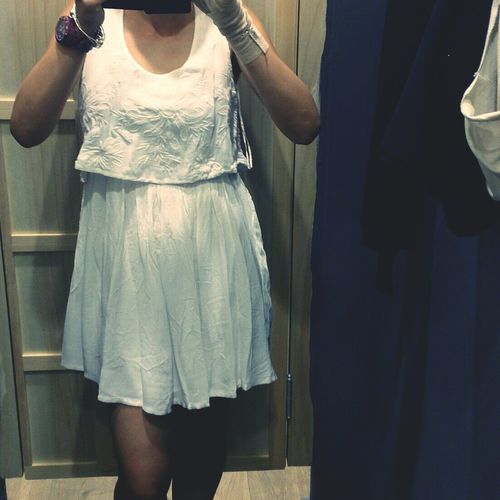 Shopping Dress Zara White