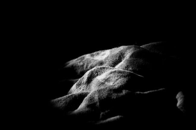 Soft Furnishings Canvas Black And White Black Background Close-up Studio Shot Texture