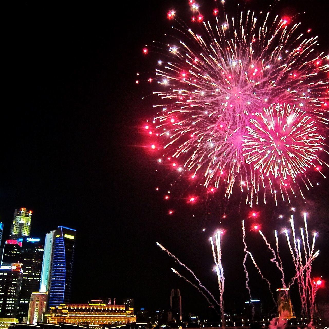 Singapore Fireworks Marina Bay