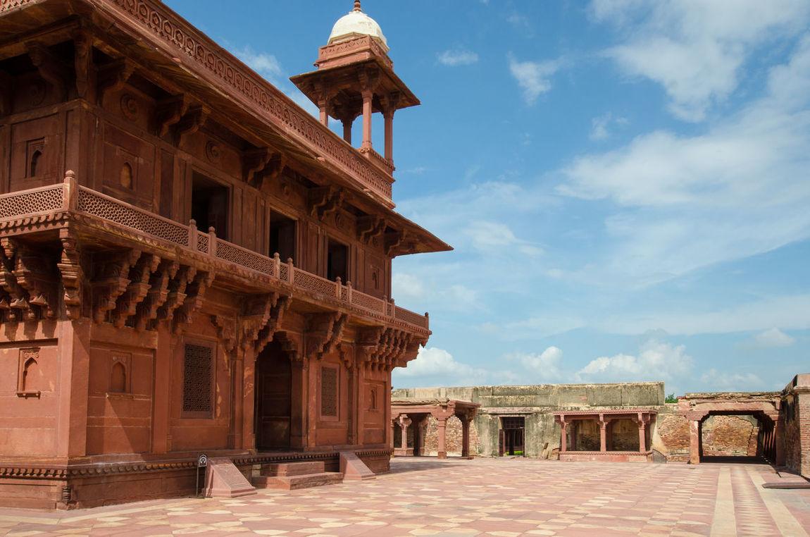 Architecture Building Exterior Famous Place Fatehpur Sikri Fatehpursikri History India Indian International Landmark Palace Rajasthan Red Tourism Travel Destinations UNESCO World Heritage Site UttarPradesh Vacations