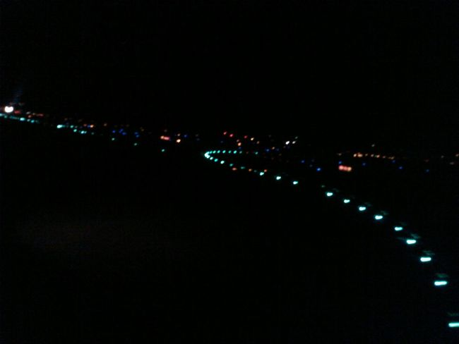 Night Flight Air Travel  From An Airplane Window