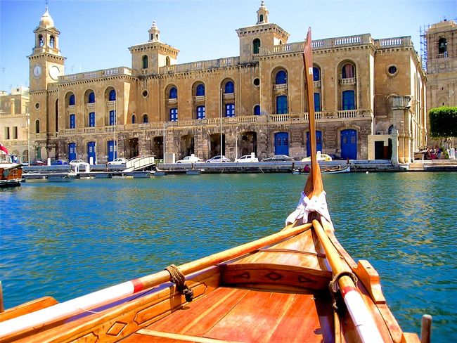 Architecture Blue Boat Built Structure Canal City Culture Day Malta Mode Of Transport Nature Nautical Vessel Outdoors Sky Tourism Travel Destinations Water