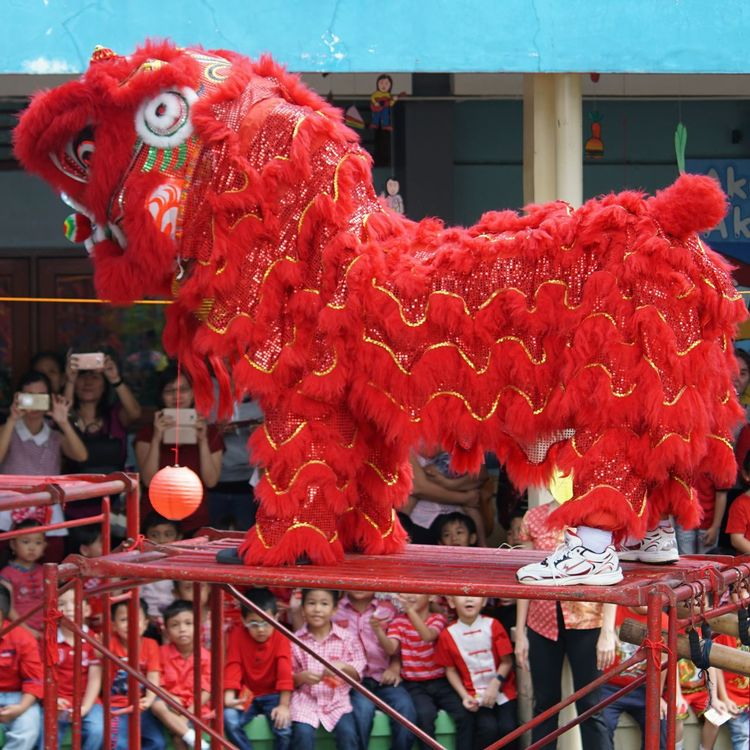 red barongsai