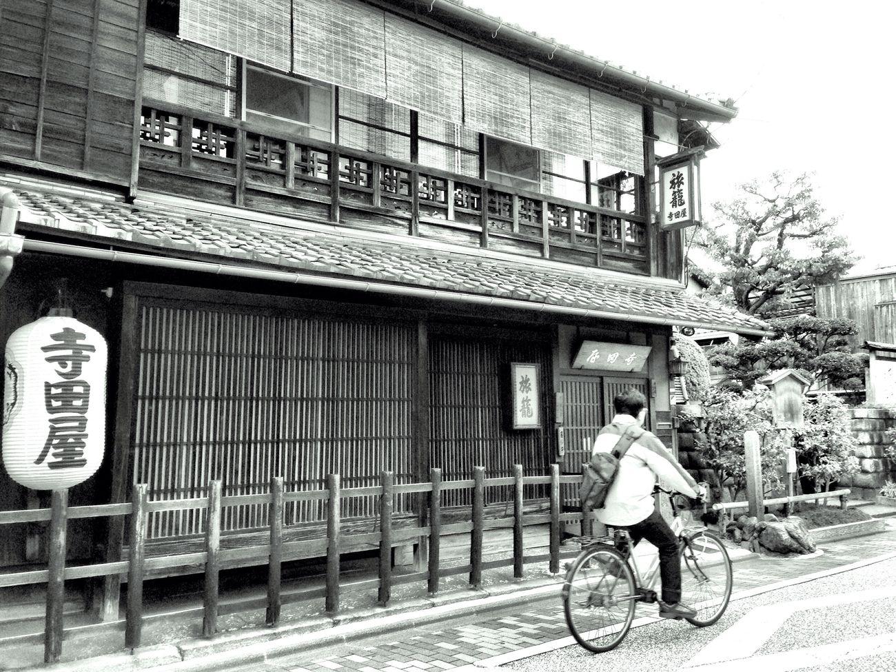 Terada-ya Port-inn Sakamoto Ryoma 寺田屋 モノクロ Kyoto, Japan One Person