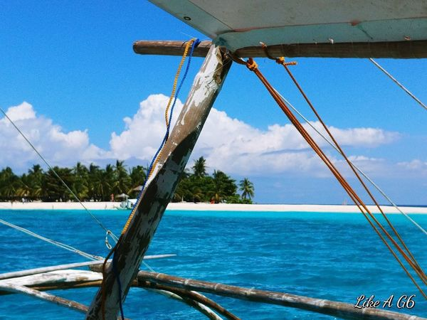 Water Sky Blue Outdoors Sea Nature Close-up Tree Vacation Time Vacation Wheninleyte Kalanggaman Island Phillipines Cellphone Photography Lgg6 Beauty In Nature Boat Trip Island Ocean View
